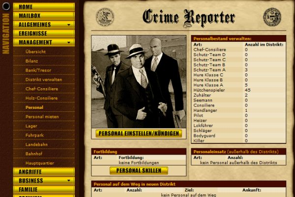 Gangs of Crime - Verschiedenen Gangstertypen