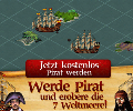 Werde in Piratenkriege zu Piratenkönig